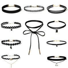 Anhänger Legierung Stoff mit Spitze Halsketten