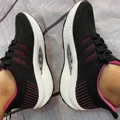 Frauen Fliegende Webart Flascher Absatz Flache Schuhe Tanzschuhe mit Zuschnüren Hohl-out Schuhe