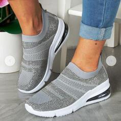 Frauen Fliegende Webart Flascher Absatz Flache Schuhe Round Toe Tanzschuhe mit Hohl-out Schuhe