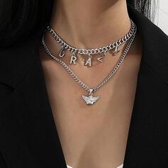 mit Vergoldet Frauen Damen Halsketten 2 STÜCK