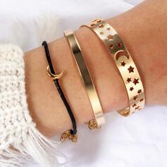 Attractive Charming Pretty Elegant Alloy With Star Moon Bracelets Charm Bracelets 3 PCS