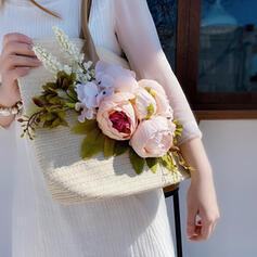 Blumen/Handgemacht Schultertaschen/Strandtaschen