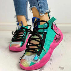 Frauen Mesh PU Lässige Kleidung Outdoor Schuhe