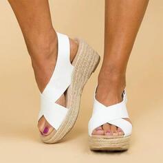 PU Keil Absatz Sandalen Keile Schuhe