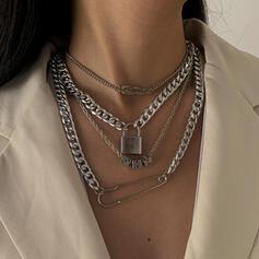 mit Vergoldet Frauen Damen Halsketten 4 STÜCK
