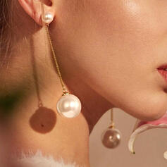 Elegant Legierung mit Nachahmungen von Perlen Ohrringe