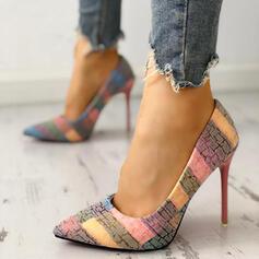 Frauen PU Stöckel Absatz Geschlossene Zehe mit Andere Schuhe