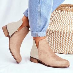 Frauen PU Niederiger Absatz Round Toe mit Tierdruckmuster Schuhe