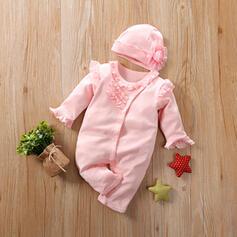 2 Stücke Baby Mädchen Rüschen Einfarbig Baumwolle Stellen Sie Größe