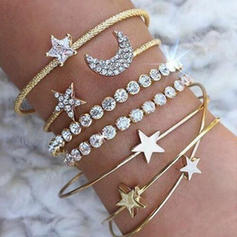 Heart Shaped Alloy Rhinestones With Rhinestone Women's Bracelets (Set of 4)