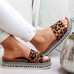 Frauen PU Flascher Absatz Sandalen Peep Toe mit Andere Schuhe