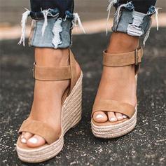 Veloursleder Keil Absatz Sandalen Keile mit Andere Schuhe