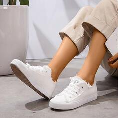 Frauen Leinwand Lässige Kleidung Sportlich mit Zuschnüren Schuhe