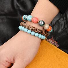 Boho Perlen mit Elefant Frauen Armbänder (3-er Set)