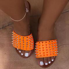 Frauen EVA Flascher Absatz Sandalen Pantoffel mit Niete Schuhe