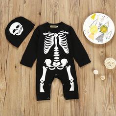 2 Stücke Baby Skelett Druck Baumwolle Stellen Sie Größe