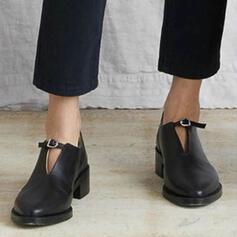 Frauen PU Flascher Absatz Flache Schuhe mit Gummiband Einfarbig Schuhe