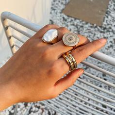 Modisch kühlen Legierung mit Imitation Steine Ringe (3-er Set)