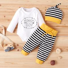 3-pieces Baby Girl Letter Striped Print Cotton Set