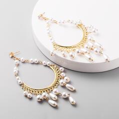 Anhänger Fantasie Legierung Faux-Perlen Ohrringe