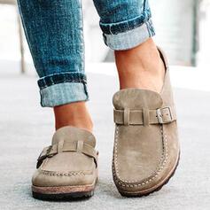 Frauen Veloursleder Flascher Absatz Flache Schuhe Rutsche & Maultiere Maultiere mit Schnalle Schuhe