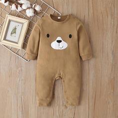 Baby Cartoon Bear Animal Solid Cotton One-piece