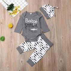 3 Stücke Baby Junge Buchstaben Tier Druck Baumwolle Stellen Sie Größe