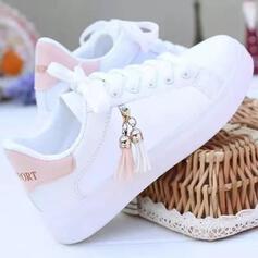 Frauen PU Lässige Kleidung Outdoor mit Zuschnüren Quaste Schuhe