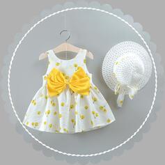 Mädchen Bowknot Druck Kleid