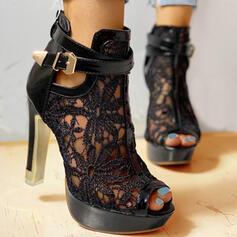Frauen Mesh Stöckel Absatz Absatzschuhe Peep Toe mit Bowknot Hohl-out Schuhe
