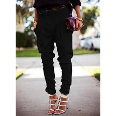 Einfarbig Lässige Kleidung Lange Einfarbig Hosen