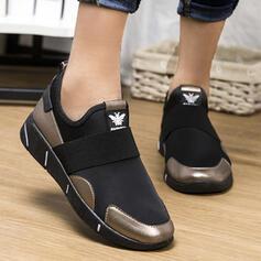 Frauen Fliegende Webart Flascher Absatz Flache Schuhe Round Toe mit Gummiband Schuhe