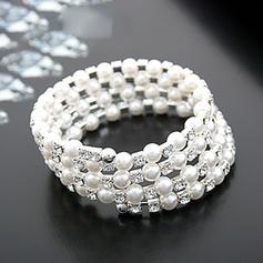 Schöne Strasssteine Faux-Perlen mit Nachahmungen von Perlen Damen Mode Armbänder