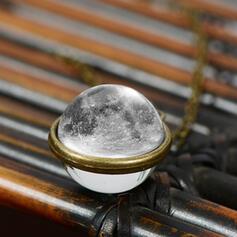 Schöne Planet Mond Legierung Glas Frauen Halsketten