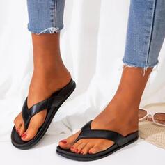 Frauen PVC Flascher Absatz Sandalen Flache Schuhe Peep Toe Flip Flops Pantoffel mit Hohl-out Kreuz und quer Schuhe