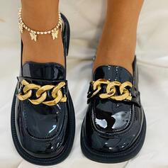 Women's PU Flat Heel Flats With Chain shoes
