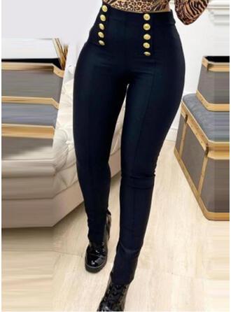 Einfarbig Übergröße Sexy Jahrgang Hosen