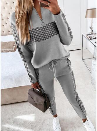 Druck Übergröße Kordelzug Lässige Kleidung Einfach Anzüge