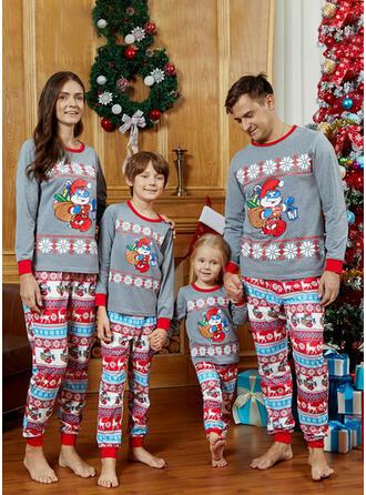 Karikatur Drucken Passende Familie Christmas Pajamas