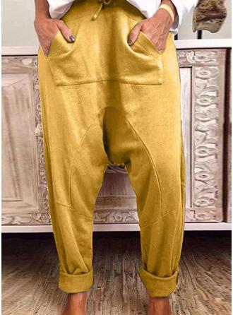 Taschen Shirred Kordelzug Lässige Kleidung Sportlich Hosen