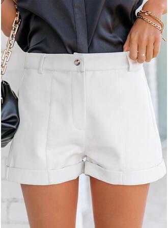 Einfarbig Taschen Einfarbig Kurze Hose