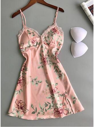 Polyester Sexy Rückenfrei Verlockend Slip Kleid