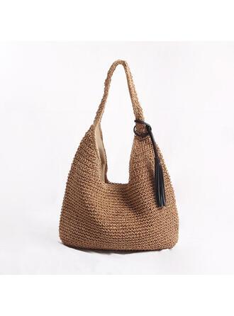 Klassische/Knödel geformter/Böhmischer Stil/Geflochten Tragetaschen/Strandtaschen/Hobo-Taschen