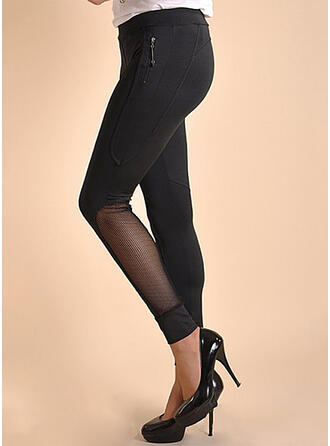 Solid Long Sexy Plus Size Pocket Leggings