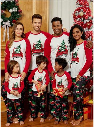 Schreiben Karikatur Drucken Passende Familie Christmas Pajamas