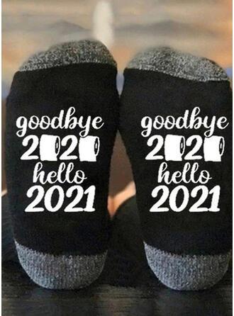 Buchstaben/Druck Atmungsaktiv/Crew Socks/Non Slip/Unisex Socken