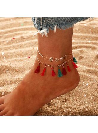 Beautiful Stylish Boho Alloy Women's Ladies' Girl's Anklets 2 PCS