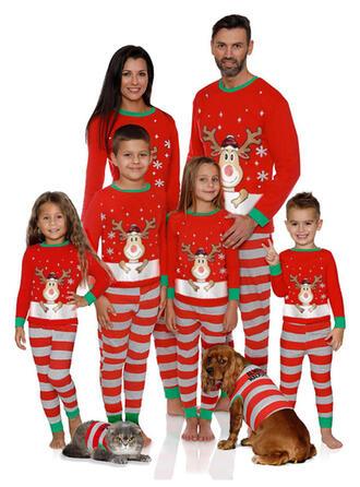 Hirsch Gestreift Passende Familie Christmas Pajamas