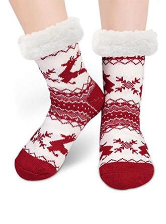 Druck/Weihnachten Rentier Warmen/Weihnachten/Crew Socks/Non Slip/Unisex Socken