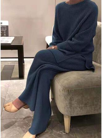 Einfarbig Übergröße Lässige Kleidung Sportlich Dehnbar Anzüge